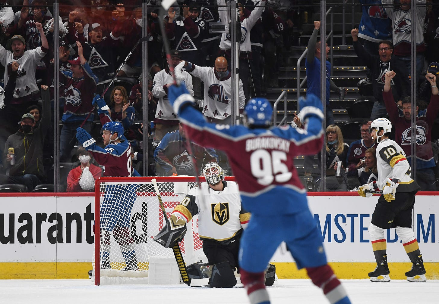 Avalanche crushes Golden Knights 7-1 in chippy Game 1 – The Denver Post