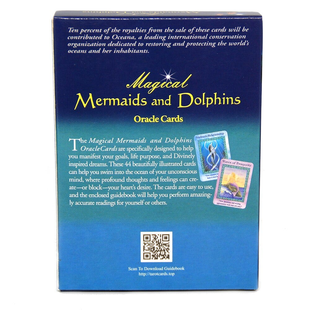 1815538648 Magical Mermaids And Dolphin Oracle Cards A 44 Card Pdf Guidebook Help You Manifest Goals Life Purpose Divinely Inspired Dreams Toys Hobbies Games And Puzzles