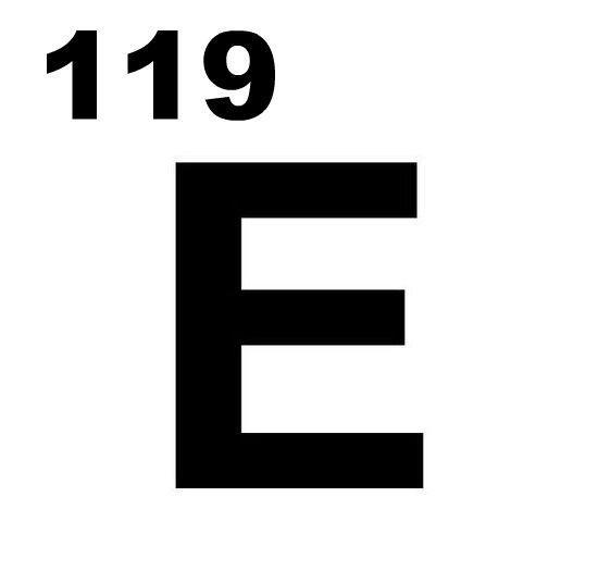 afbeelding van het element E met 119 erboven