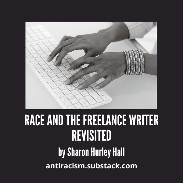 Race and the Freelance Writer Revisited - cover image shows a pair of hands on a keyboard