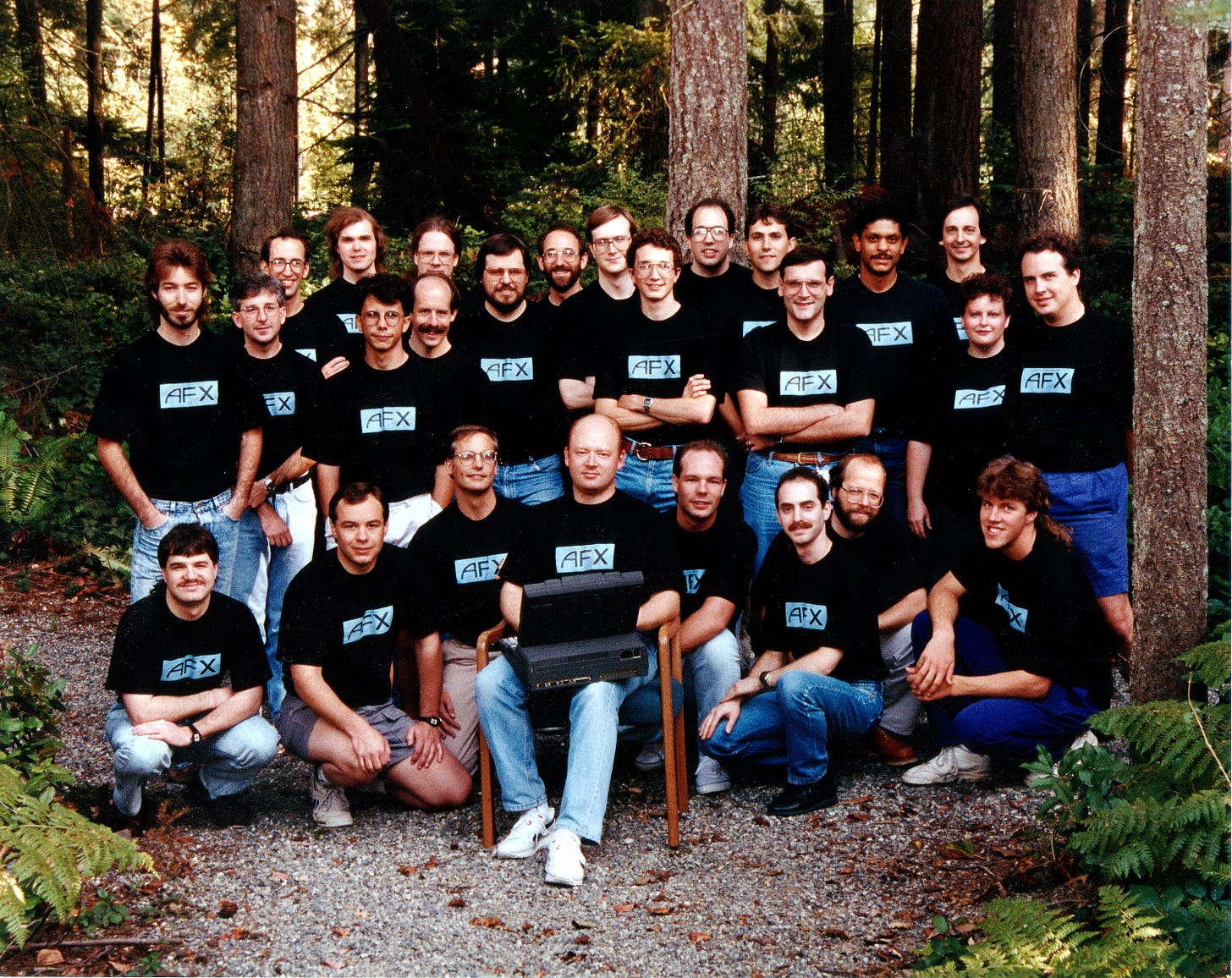 A group photo of 26 members of the AF team.
