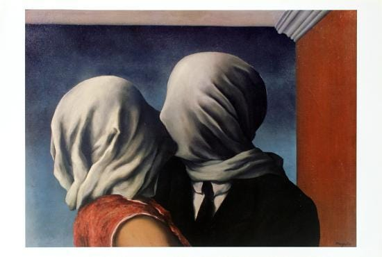 Les Amants (Lovers)' Prints - Rene Magritte | AllPosters.com