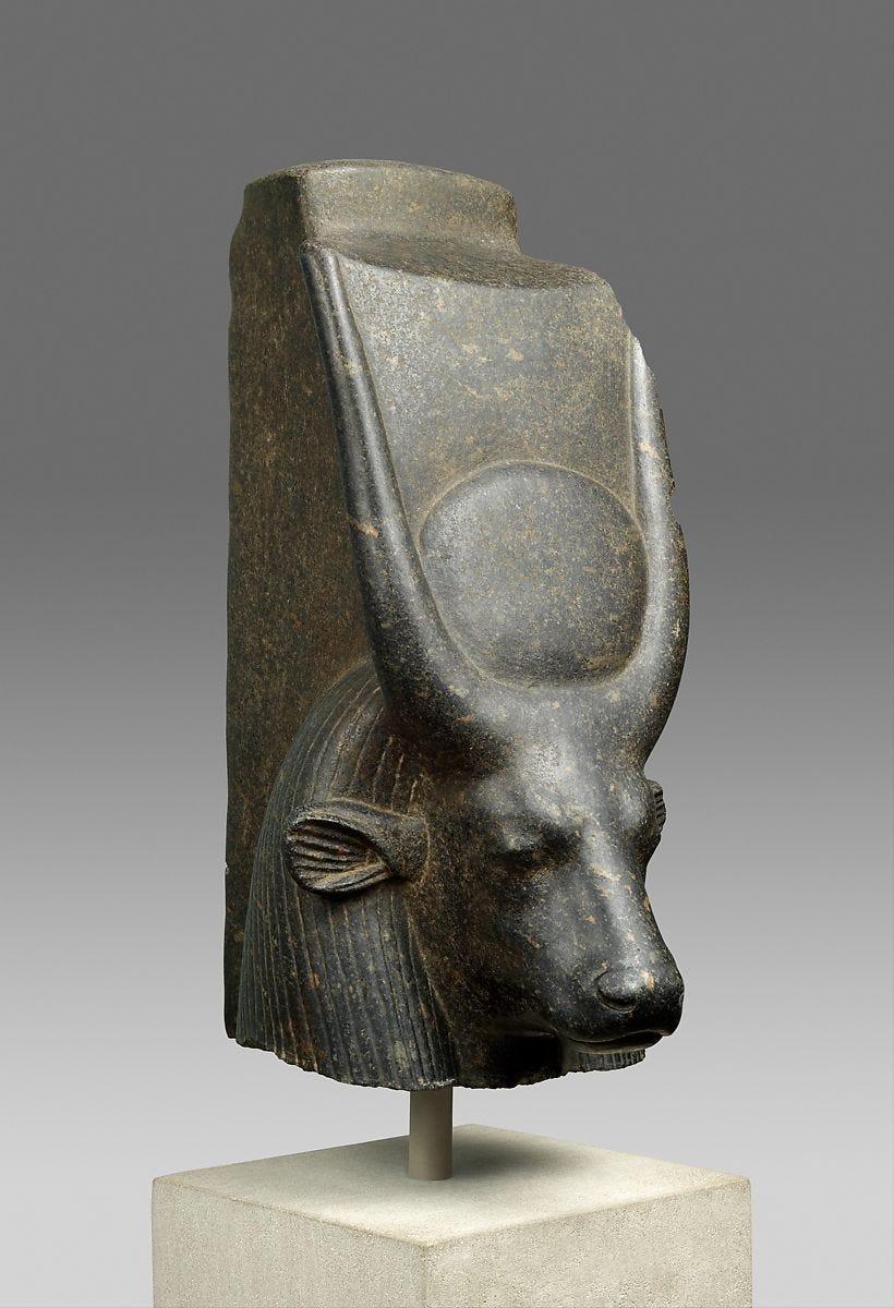 The Head of a Cow Goddess, Porphyritic diorite