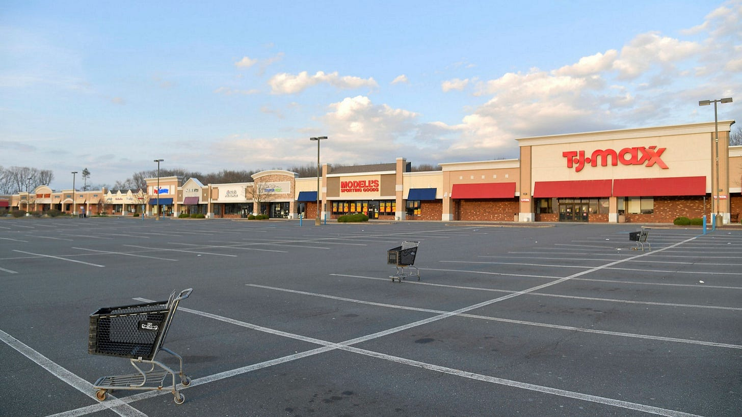 US strip mall owners paid less than half of April rent   Financial Times