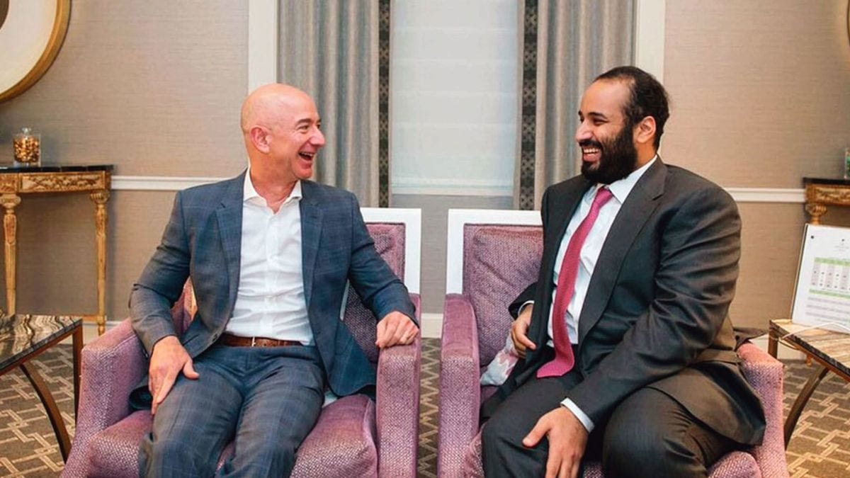 Image result for jeff bezos and mohammed bin salman
