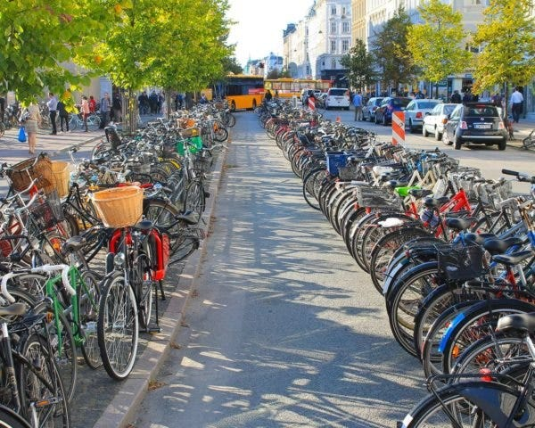 remote work and bicycle commuting in Copenhagen