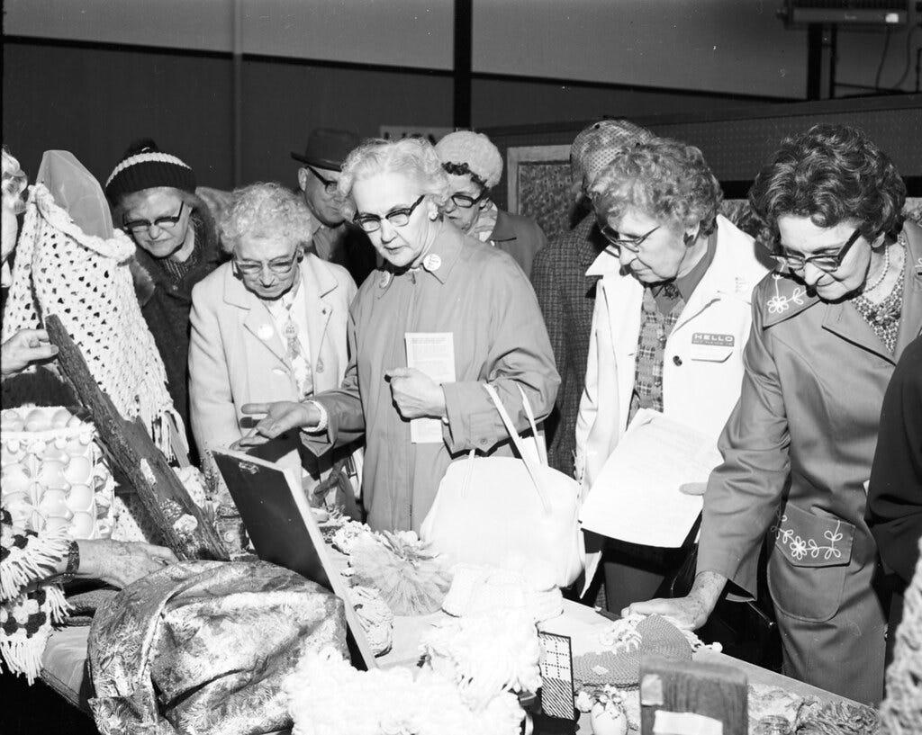 Senior Citizen Fair at Seattle Center, 1973