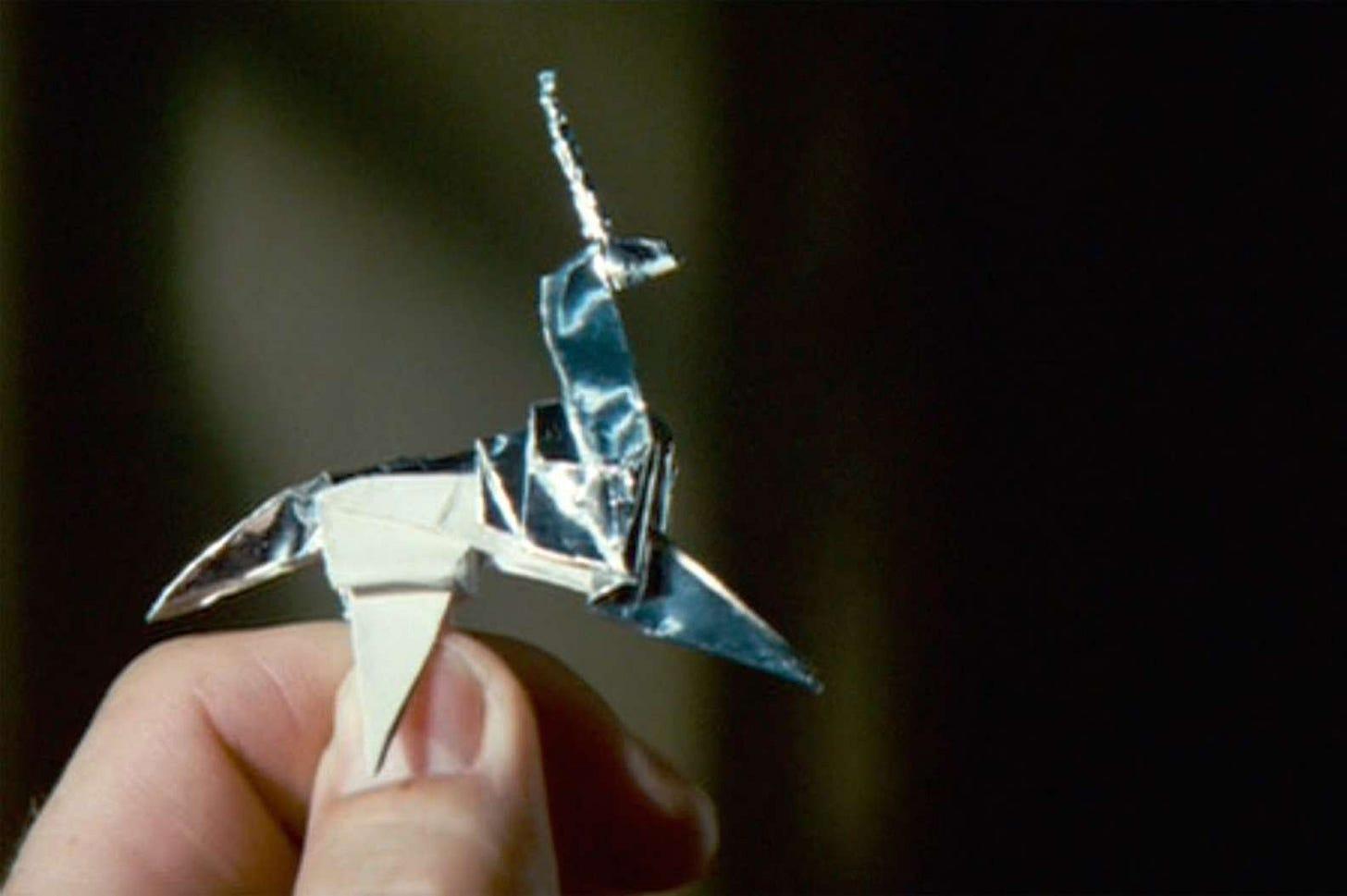How to fold the Blade Runner unicorn