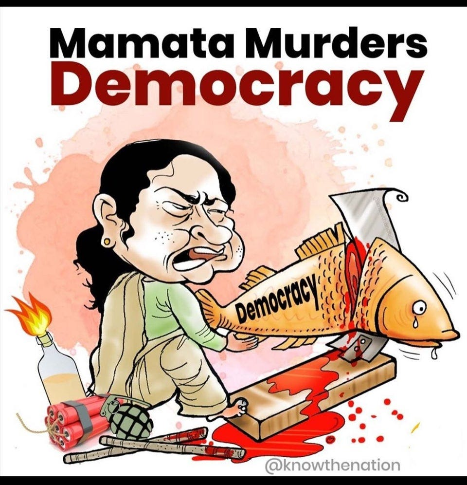 r/IndiaSpeaks - Mamata's recipe for tyranny: crude bomb, chemical in water cannon, lathis and brute police force.