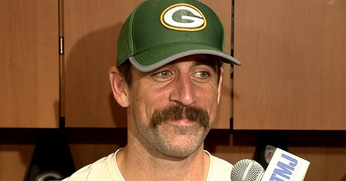 Aaron Rodgers' New Mustache Could Lead the Packers to a 16-0 Season