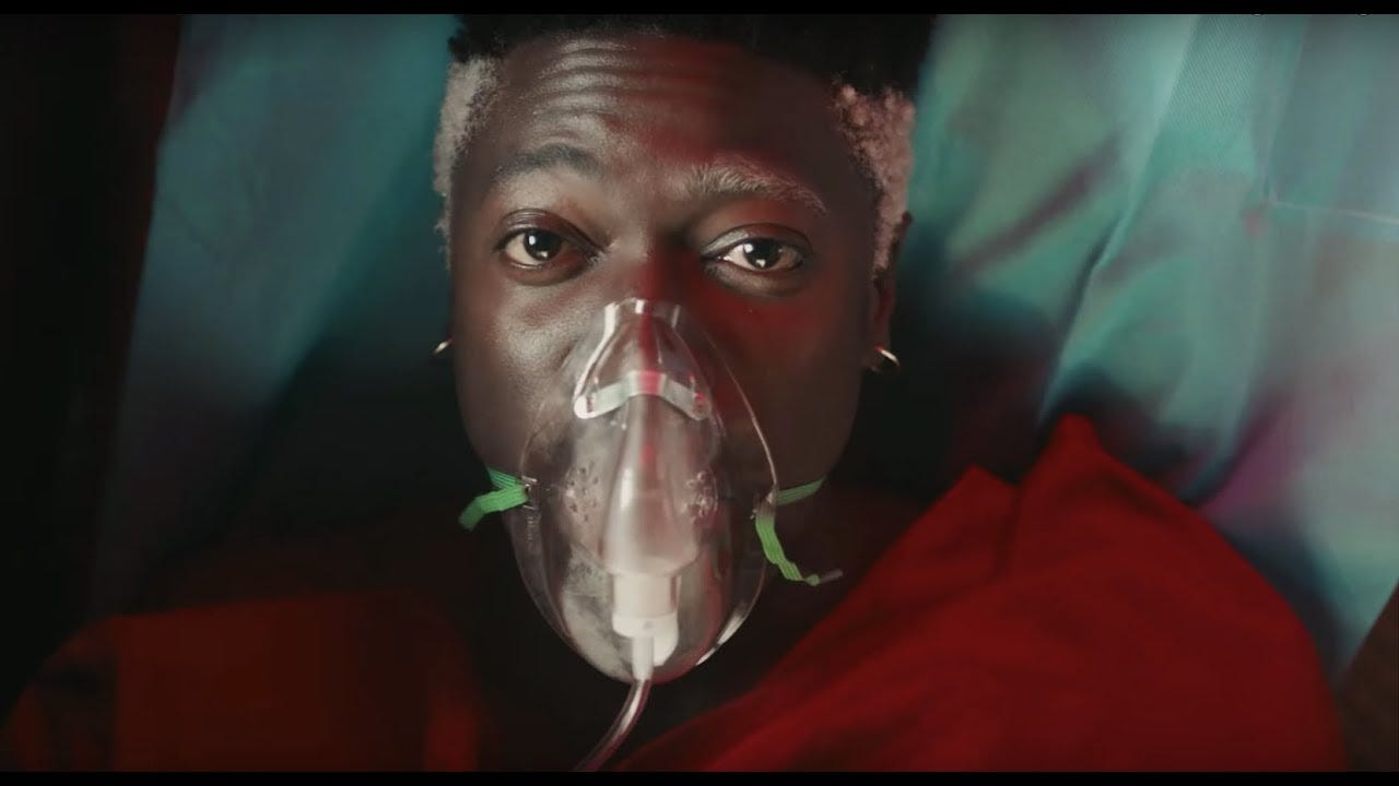 Moses Sumney laughs in the face of death in 'Cut Me' video