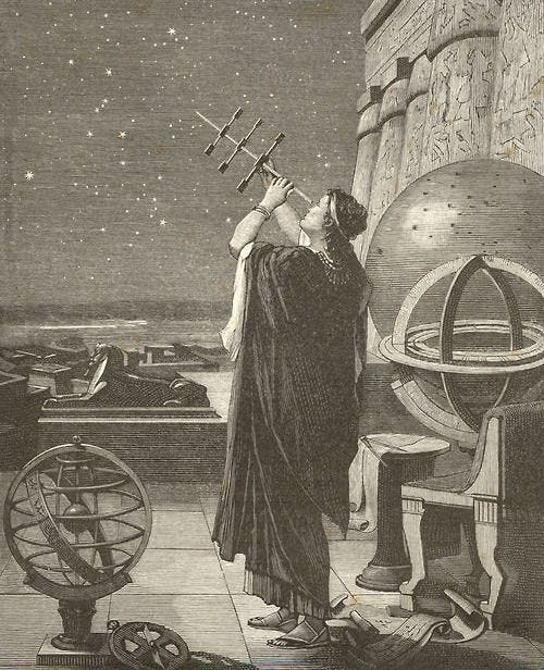 Illustration of Hypatia, Ancient Alexandria's female scholar and director of the Library of Alexandria