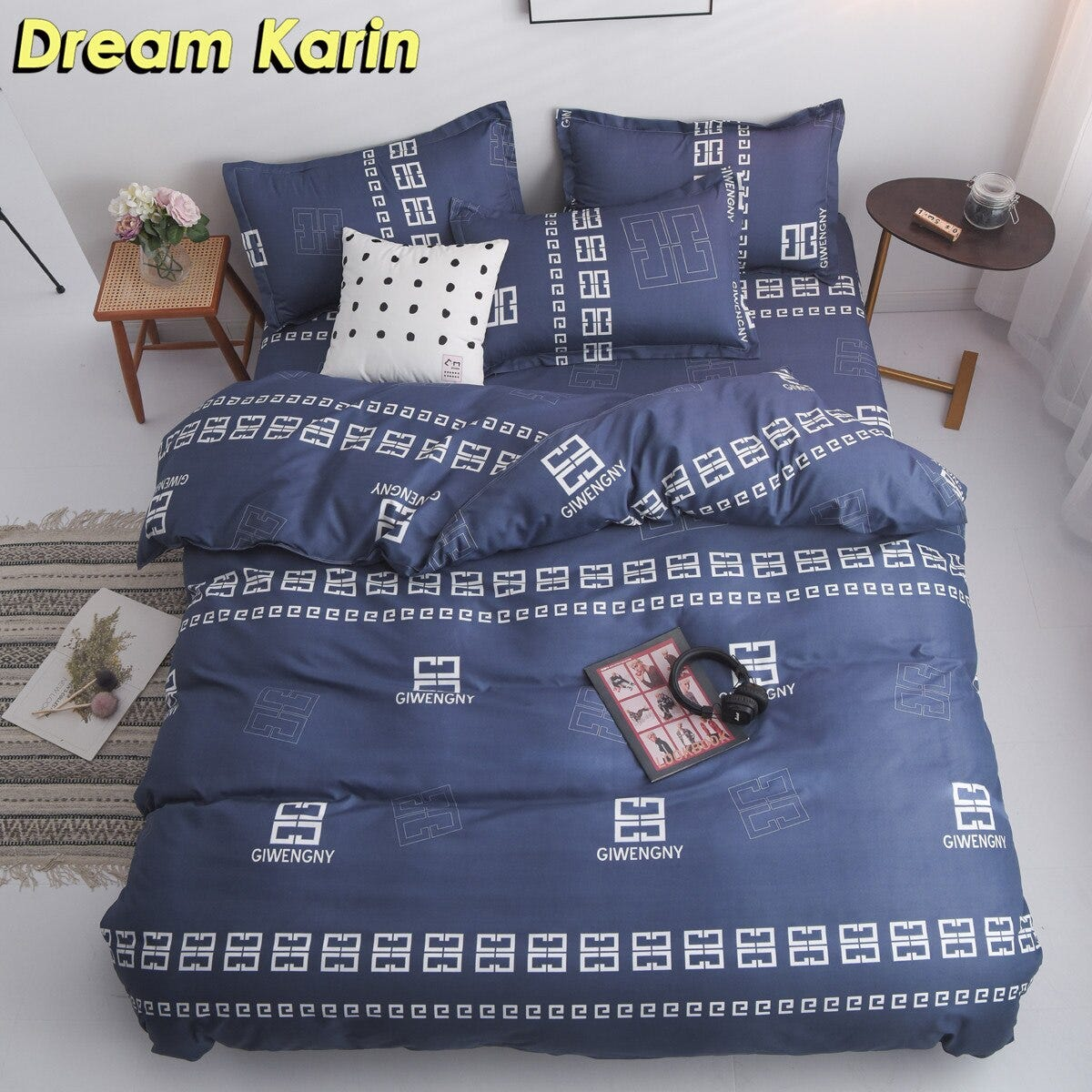 1087148045 Home Textile Brief Duvet Covers Set Nordic Bedding Sets With Pillowcase Fitted Bed Sheets Single Double Queen King Bedclothes Home Garden Home Textile