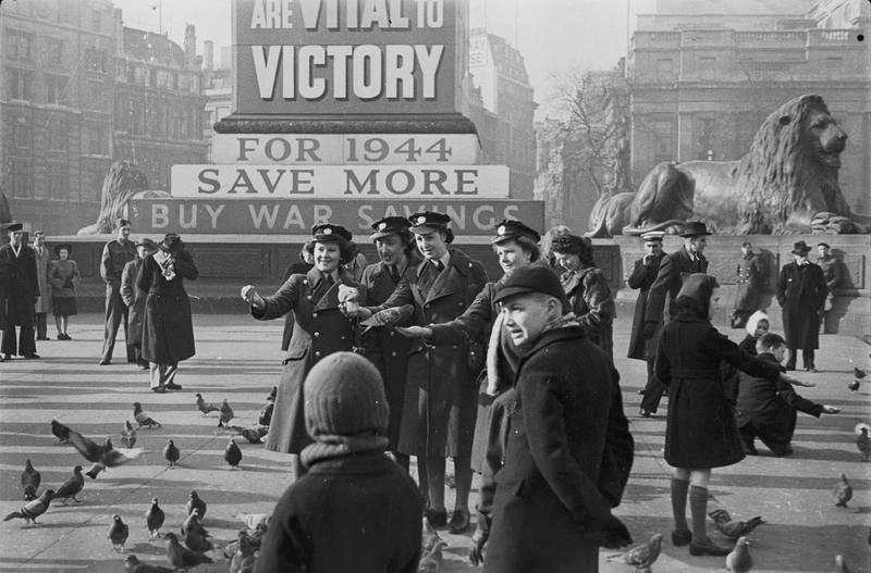London tense as the bombing starts again