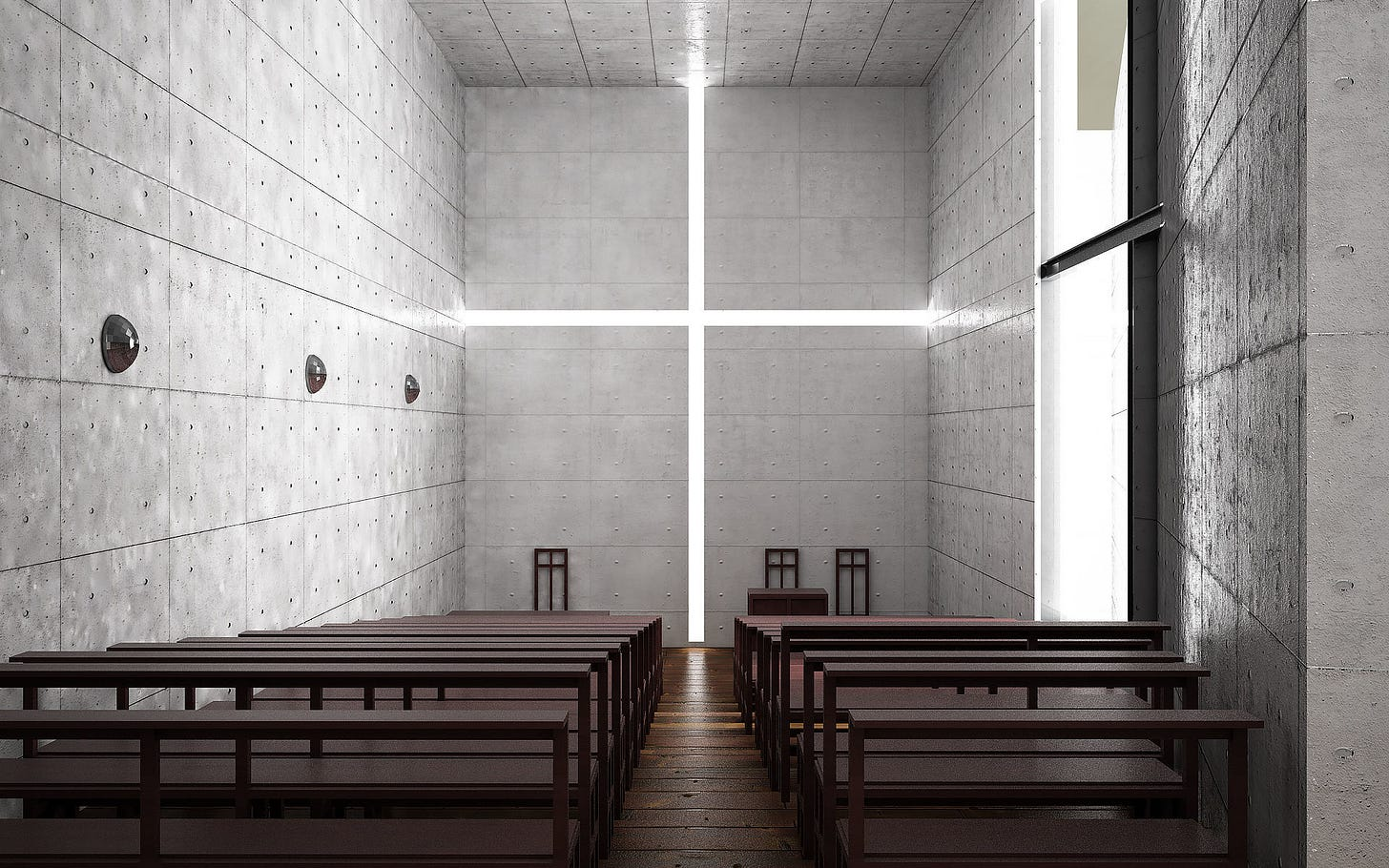 3D Tadao Ando - Church Of Light | CGTrader