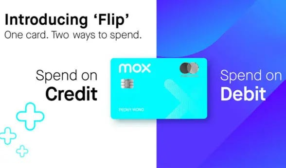 Mox virtual bank 'all-in-one' numberless debit and credit card