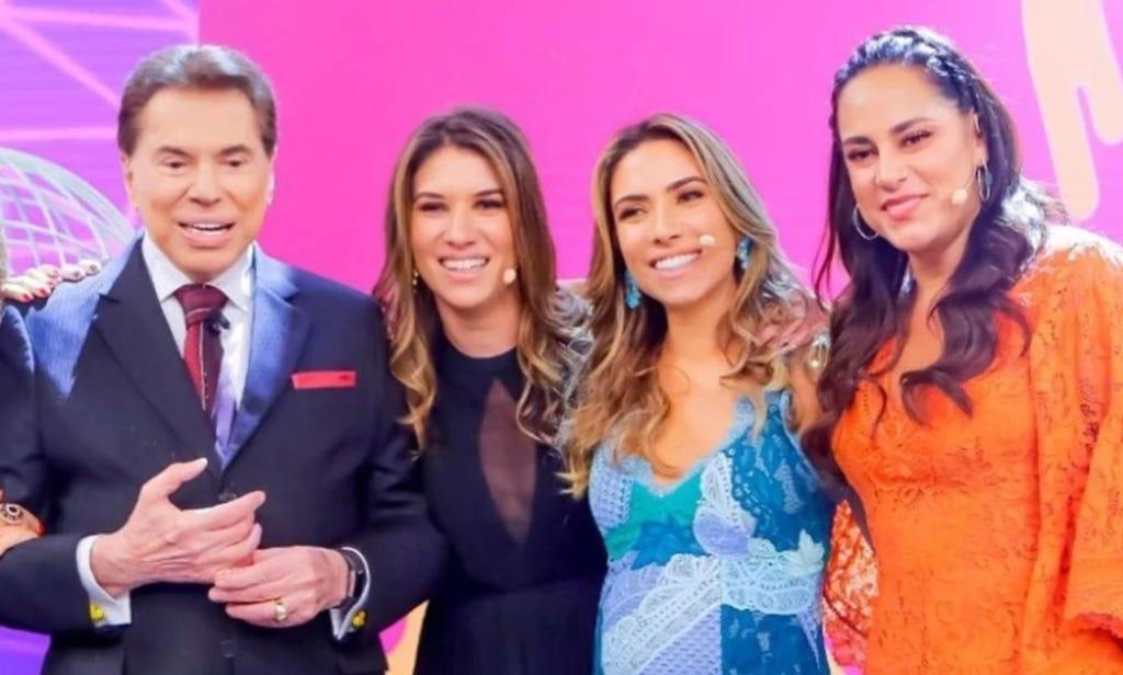 Silvio Santos e filhas