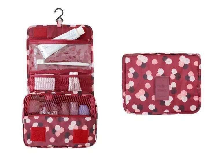 Multi-function hanging hook wash bag Fashion Travel Pouch Waterproof Portable Cosmetic Cases Toiletry Storage