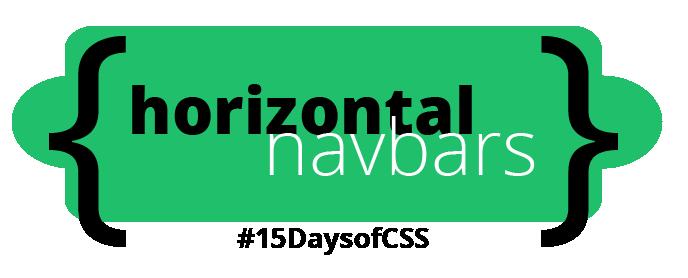 Horizontal Navbar unit, #15DaysOfCSS