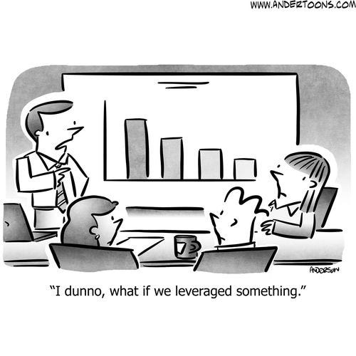Obviously, we need more leverage. Funbreak brought to you ...