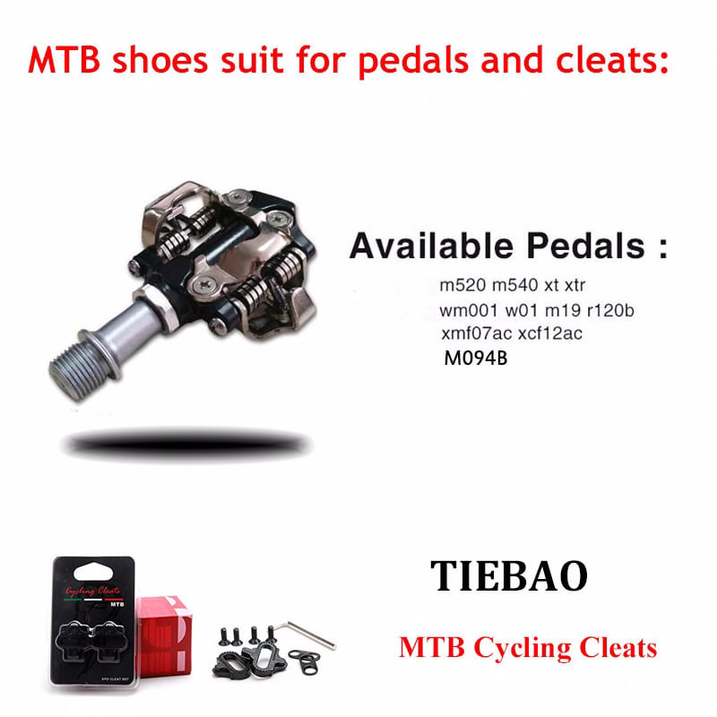 Tiebao Cycling Shoes sapatilha ciclismo mtb add SPD pedal set Men sneakers Women Bike Self-Locking Shoes Breathable Bicycle