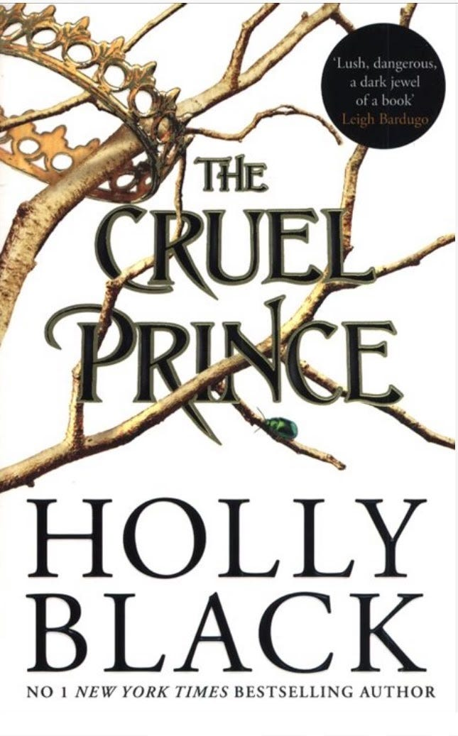 The cover of The Cruel Prince by Holly Black