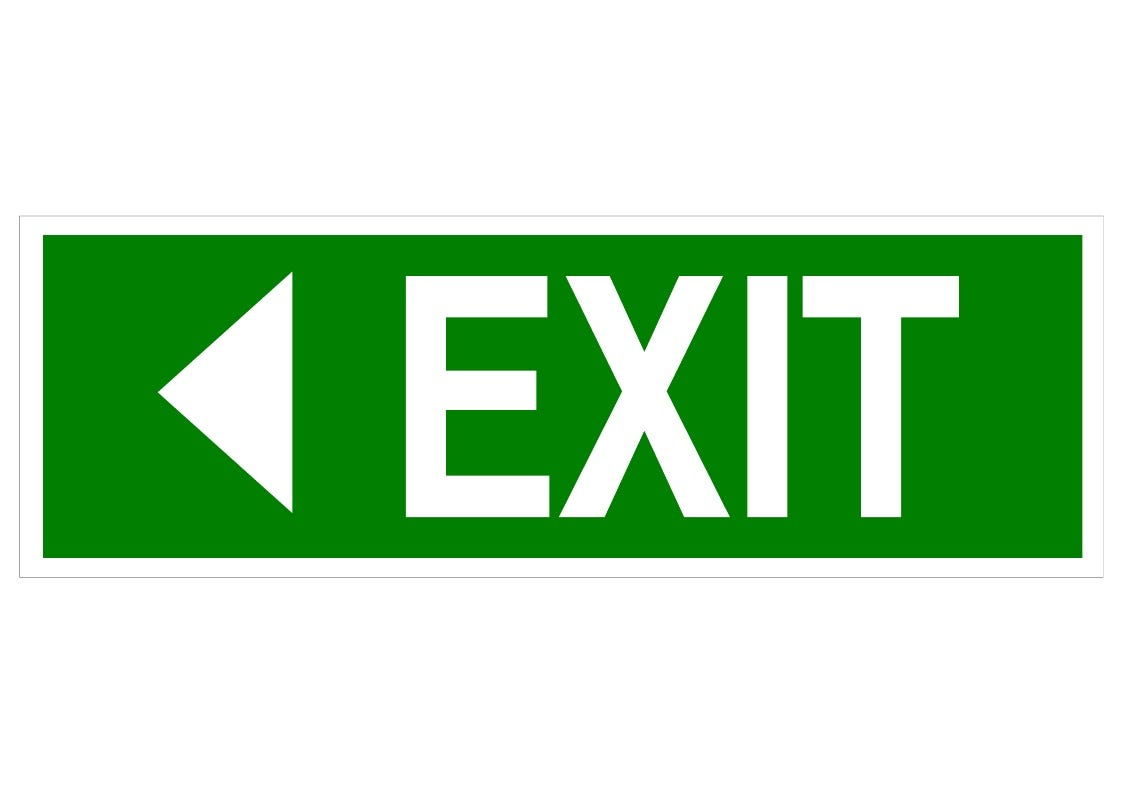 EXIT LEFT - Swift Signs