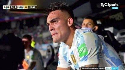 Llanto de Lautaro Martínez - Selección Argentina