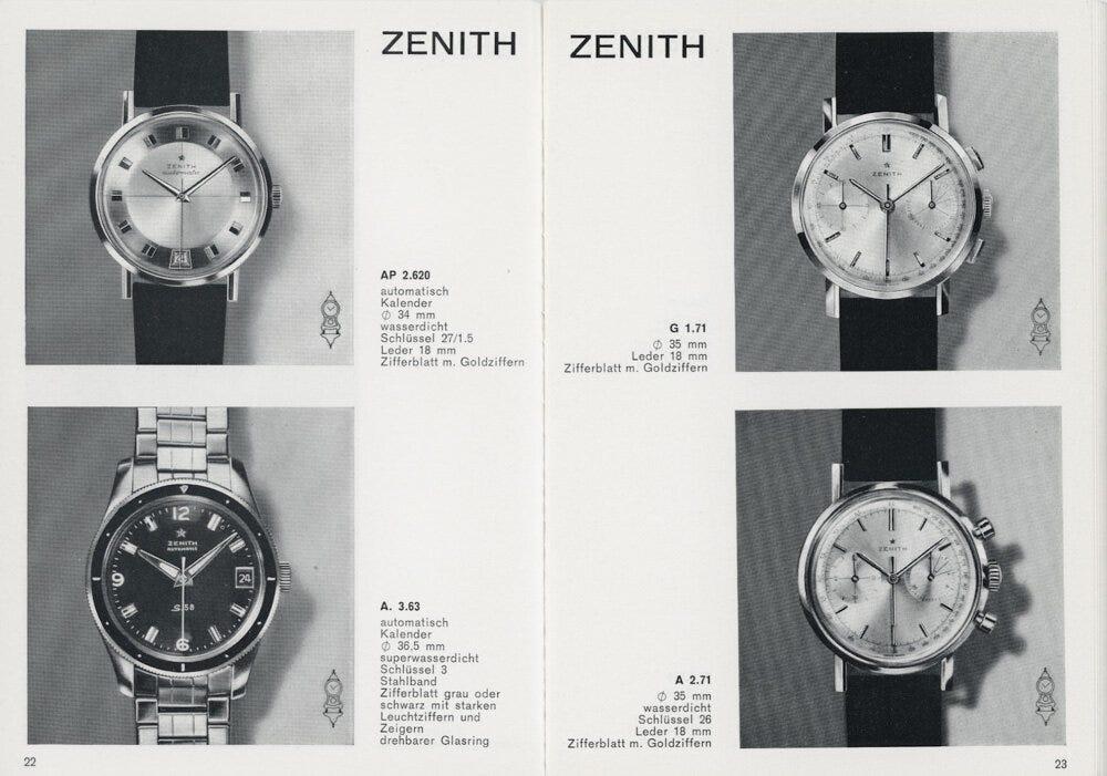 1964 or 1965 Zenith catalog likely depicting a Mark III. | Image courtesy of Tony C. at omegaforums.net