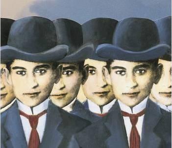 Illustration de couverture du Procès de Kafka.