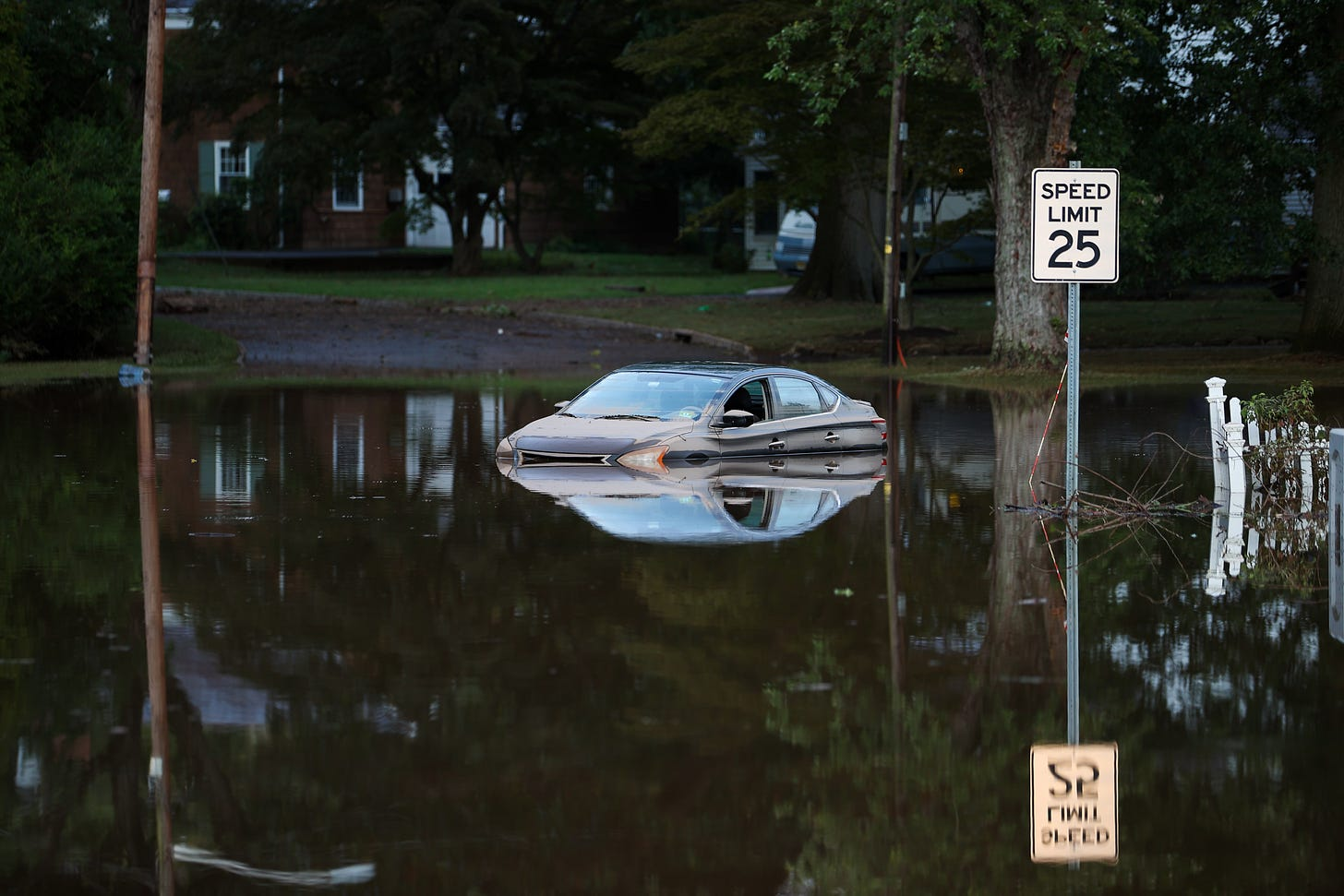 Going well under the speed limit in Bound Brook, NJ, on Sep. 2, 2021. (Photo: Getty Images)