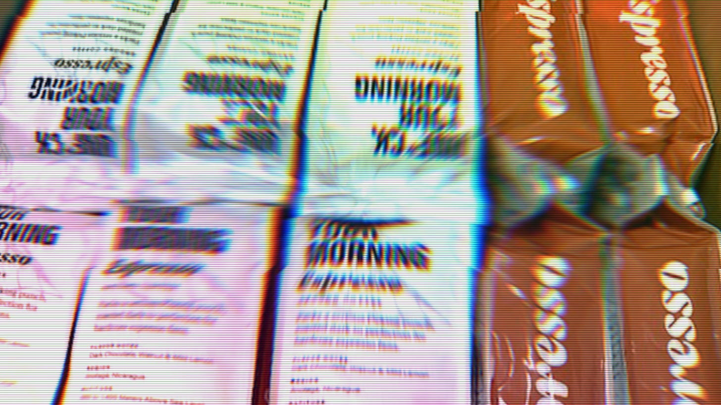 Unf*ck Your Morning coffee bags lined up in a box
