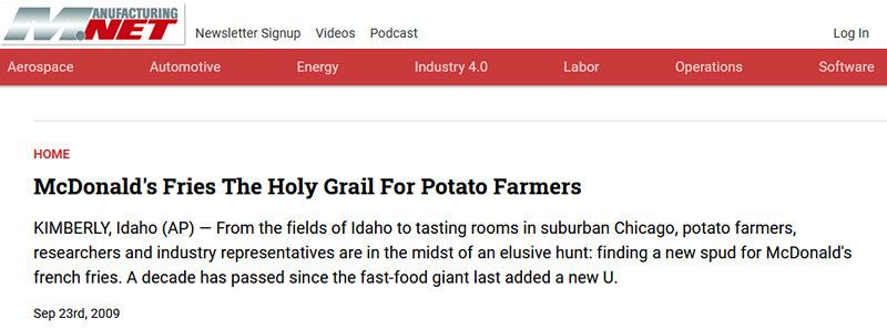 The Holy Grail of Potato Headlines
