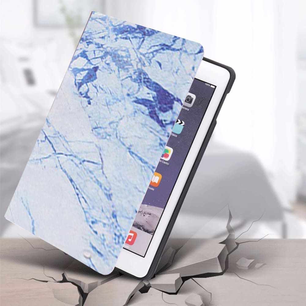 """iCozzier Marble Pattern Case For New iPad 7th Generation 10.2"""" 2019, Auto Sleep/Wake, Lightweight Shockproof Stand Cover Case"""