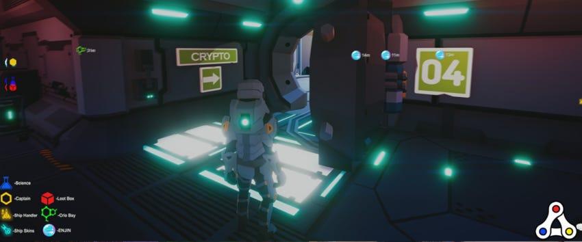 Space Misfits crypto station screenshot