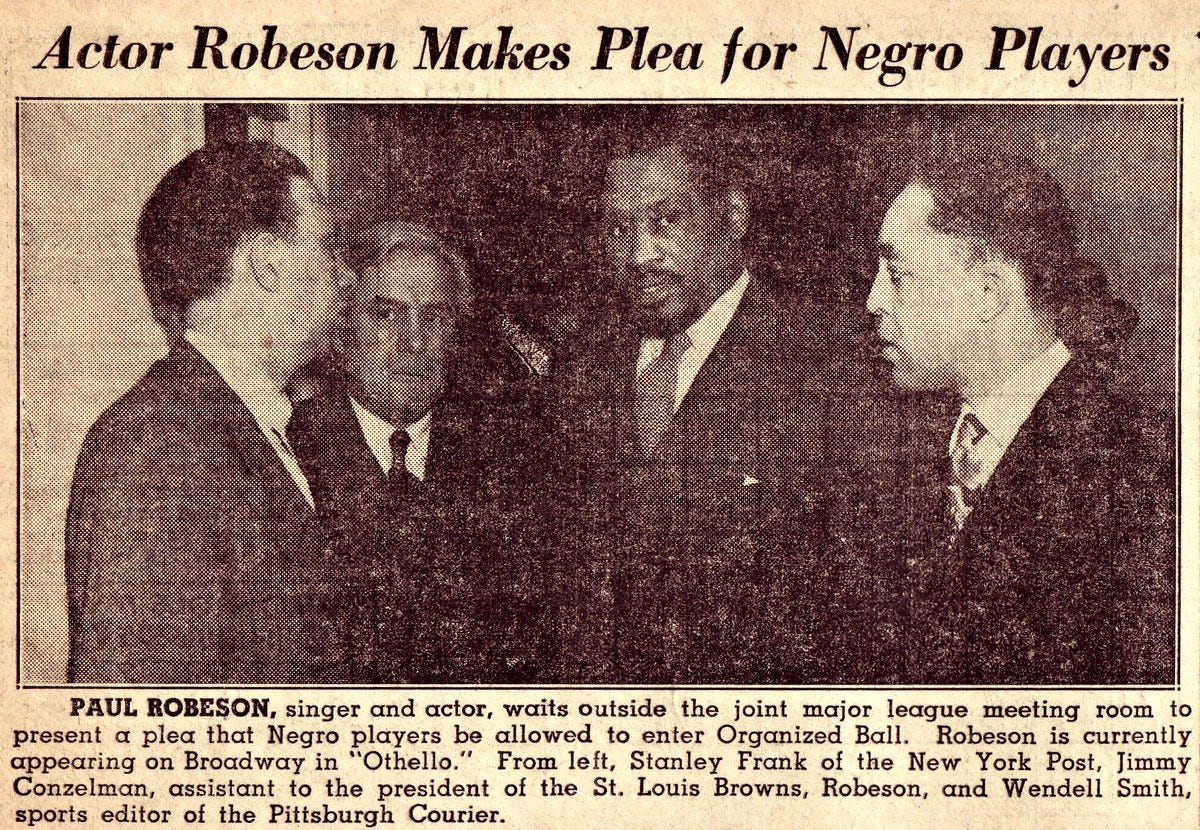 When Landis Met Robeson. What was said? What was done? How to…   by John  Thorn   Our Game