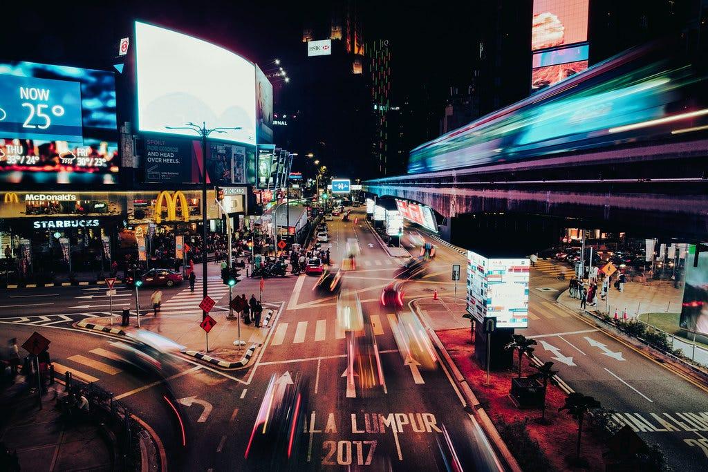 Downtown Kuala Lumpur at Night
