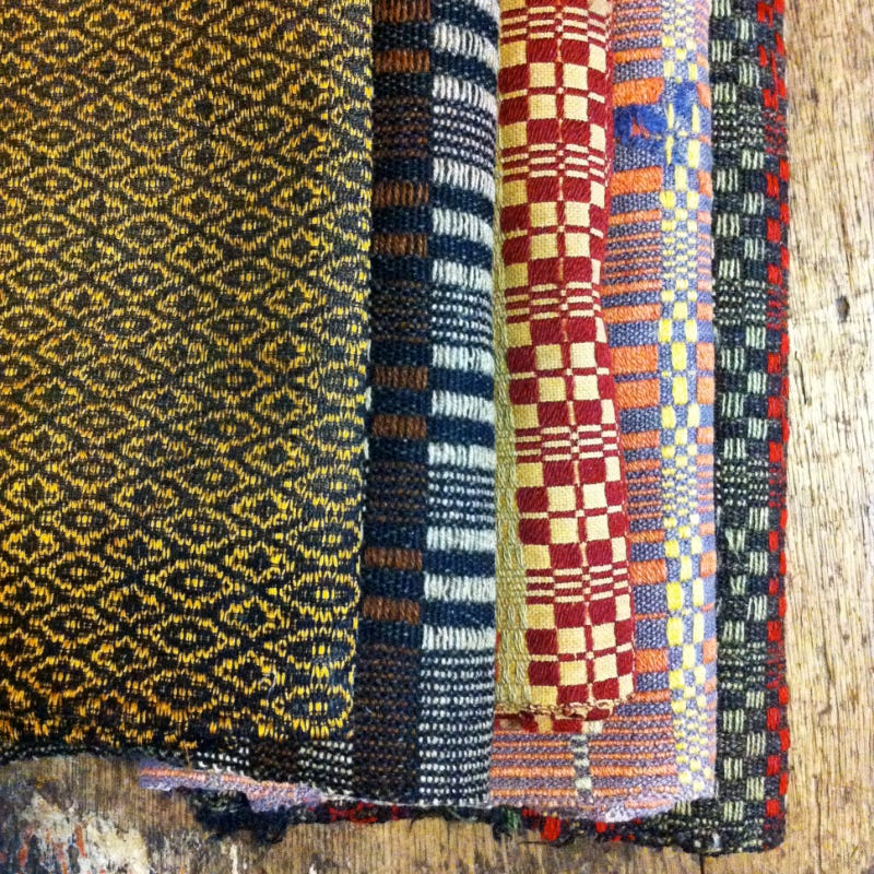 Stack of colourful textiles
