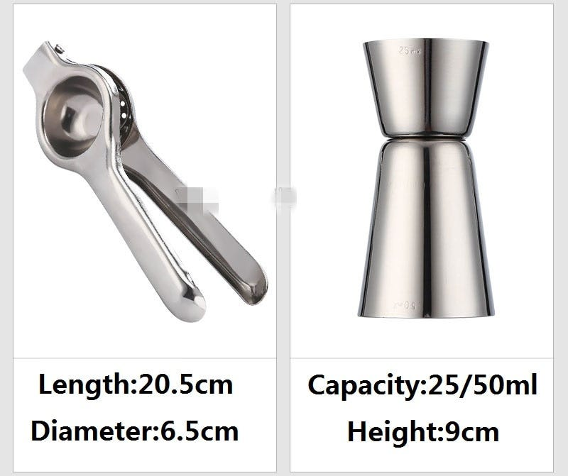 Cocktail Shaker Bar Set Stainless Steel Lounge Cup Boston Cup Shaker Cocktail Shaker Bar Tool