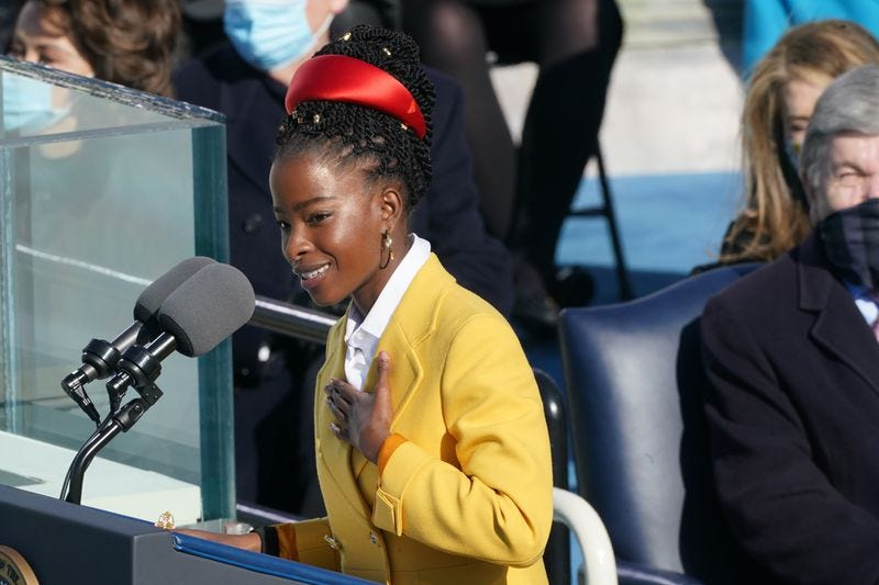 Morgan State University President David Wilson made inaugural poet Amanda Gorman (pictured) an offer that he hopes she can't refuse — a job at the prestigious historically Black educational institution he helms.