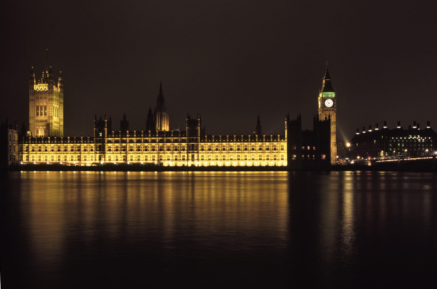 Palace of Westminster at night - Belgravia Books Collective