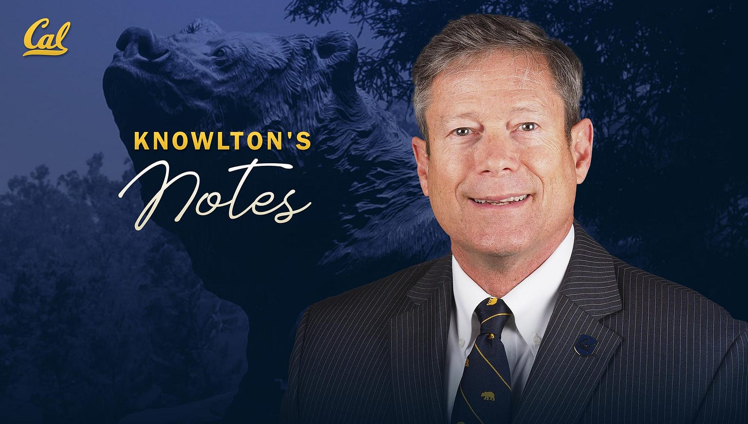 Knowlton's Notes: An Exciting Time to Be a Golden Bear