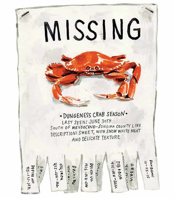 Dungeness Crab Missing poster