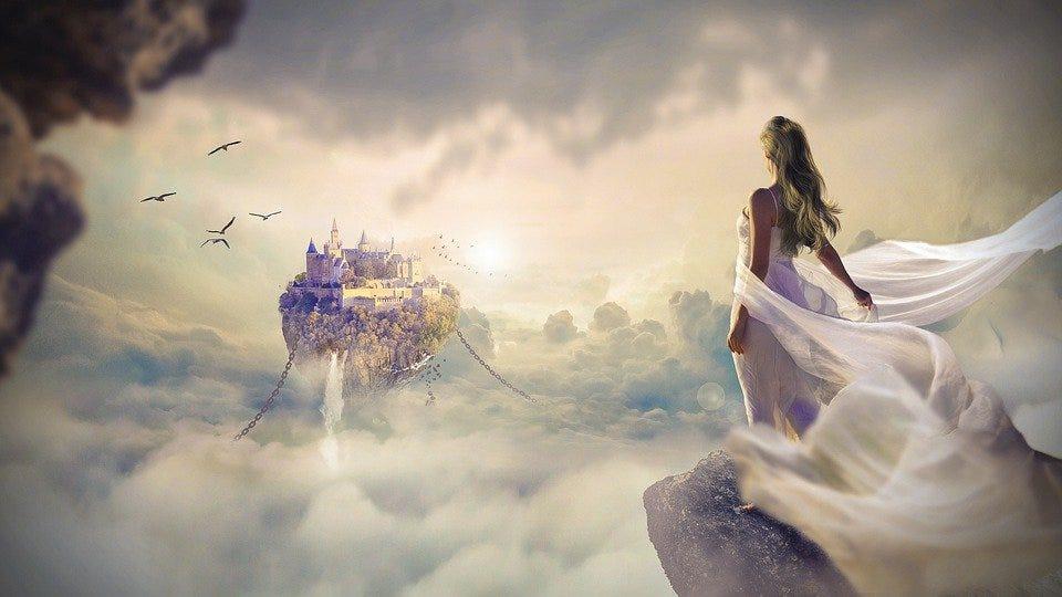 Fantasy, Beautiful, Dawn, Sunset, Sky, Cloud, Women
