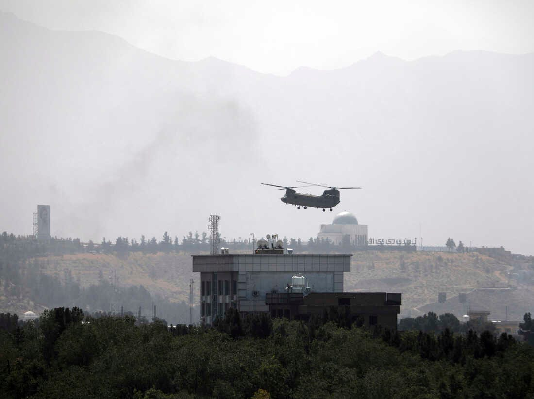 Taliban Fighters Enter Kabul As Helicopters Land At U.S. Embassy : NPR