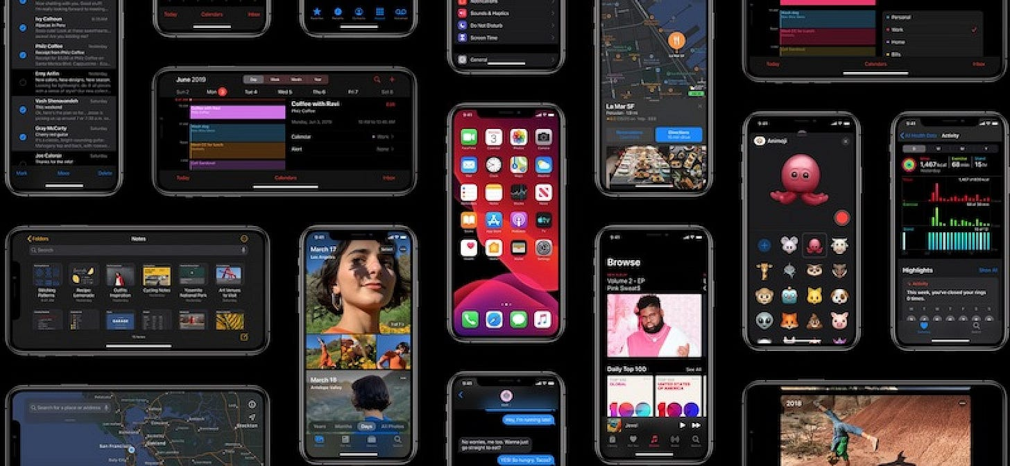Image result for ios 13 dark mode