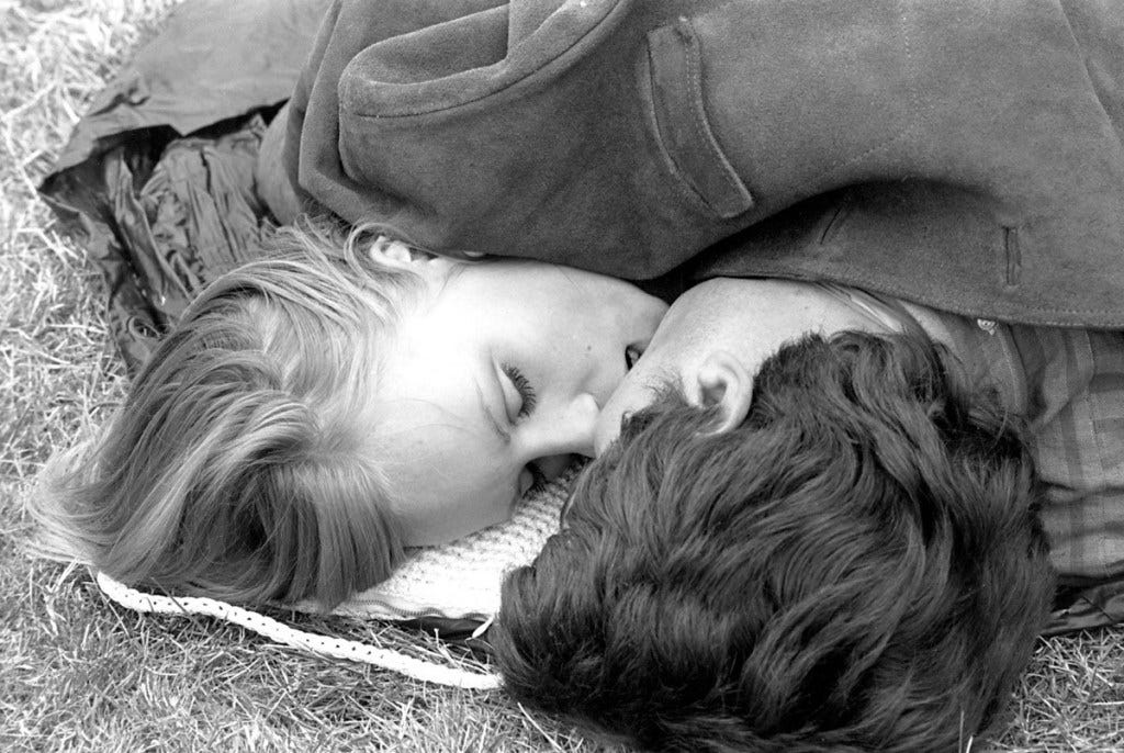 Image result for 1960 kissing in a park
