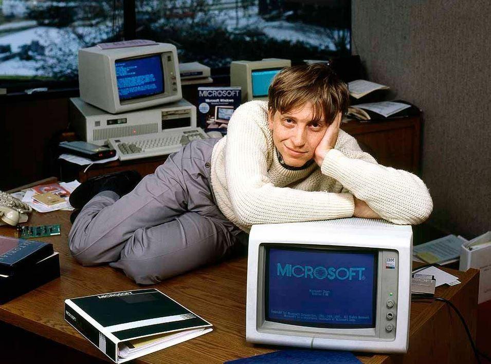 PsBattle: Bill Gates posing semi seductively with his creation :  photoshopbattles