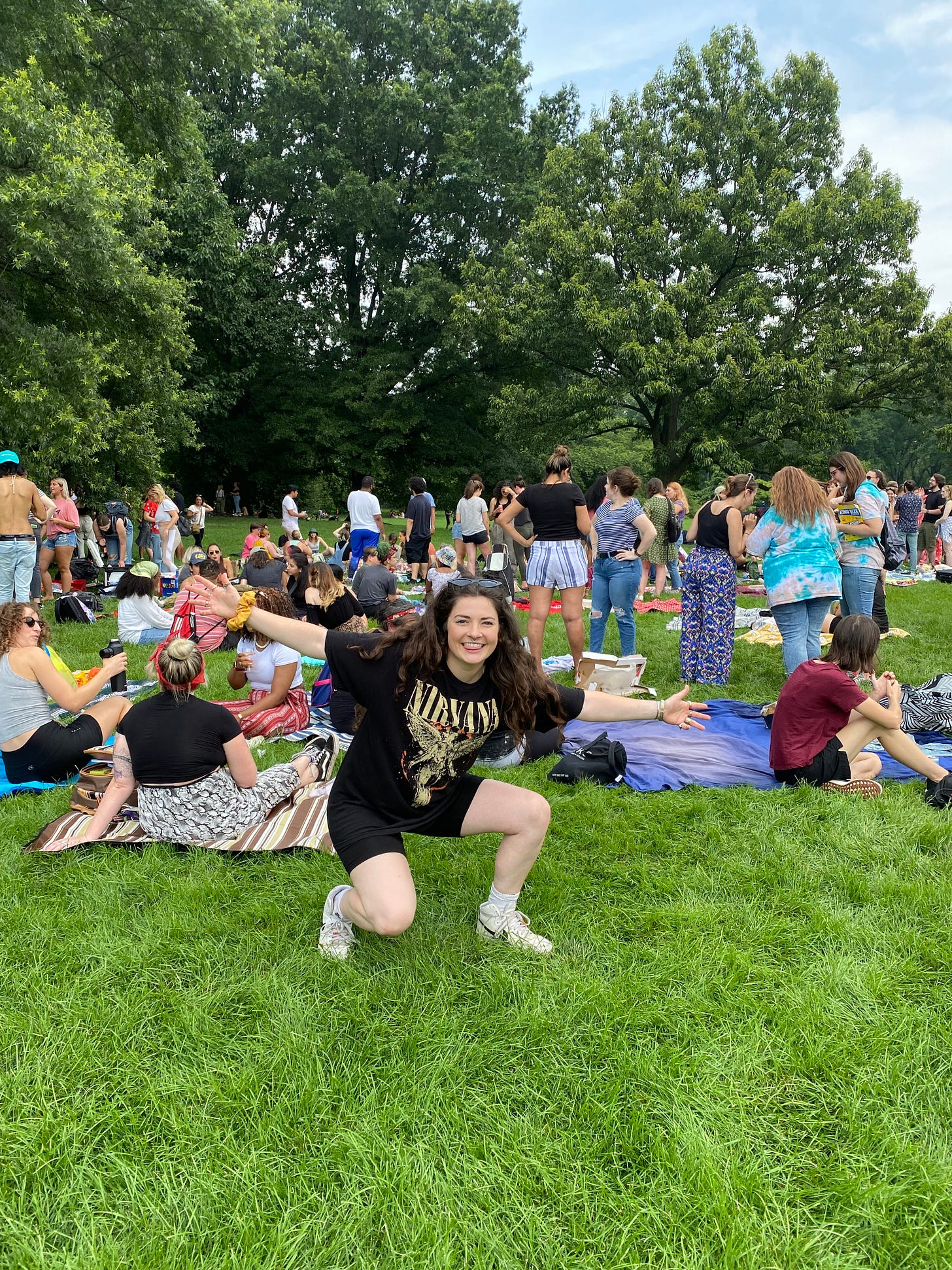Meizz at her meet-up in Central Park on July 11