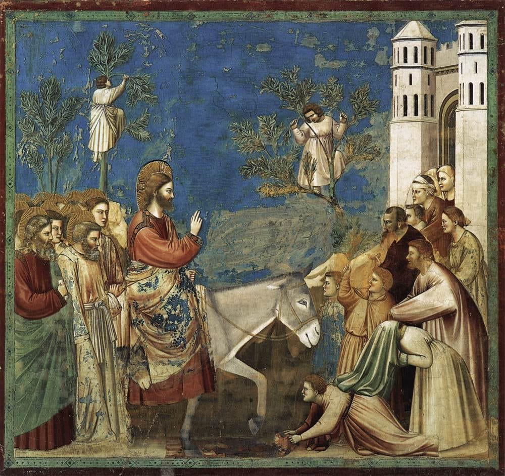 Image result for triumphal entry into jerusalem art